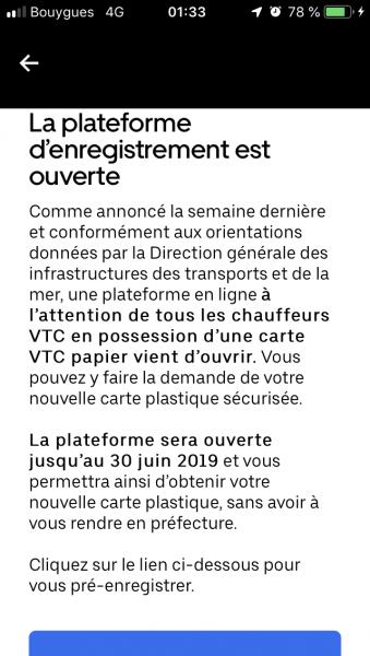 Carte Vtc 2019.Obligation D Avoir La Nouvelle Carte D Ici Fin Octobre 2019